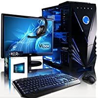 "VIBOX Lynx 32 Gaming PC Computer with War Thunder Game Voucher, Windows 10 OS, 22"" HD Monitor (4.2GHz Intel i7 Quad-Core Processor, Nvidia GeForce GTX 1060 Graphics Card, 16GB DDR4 RAM, 3TB HDD)"