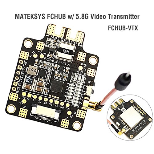 Video Of Board (Matek Video Transmitter Switchable FCHUB-VTX w/5.8G + PDB , Power Distrbution Board with 5V BEC , Video Transmitter 6-27V Input Switchable for 180 220 300 etc FPV Racing Drone RC Quadcopter by LITEBEE)
