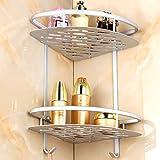 Aluminium Duschregal MAGFLY 2 Etagen Badezimmer Duschkorb für Wohnzimmer Bad Küche