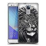 Head Case Designs Lion Faune Et Flore Ornée Étui Coque en Gel molle pour Huawei Honor 7