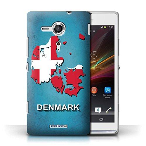 Kobalt® Imprimé Etui / Coque pour Sony Xperia SP/C5303 / Amérique/Américain/USA conception / Série Drapeau Pays Danemark/Danoise
