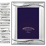 EUGAD Bilderrahmen Alu gebürstet #49, 10x15 & 13x18 & 15x20cm, Aluminium Bilderrahmen, mit Glasscheiben, Silber, 15 Stile in 3 Größen (10x15, Helen)