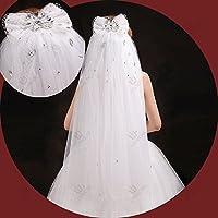 huoniao &Hua Arco-Mano-Hilado de Novia Velo-Diamantes-Coreano, Picture White
