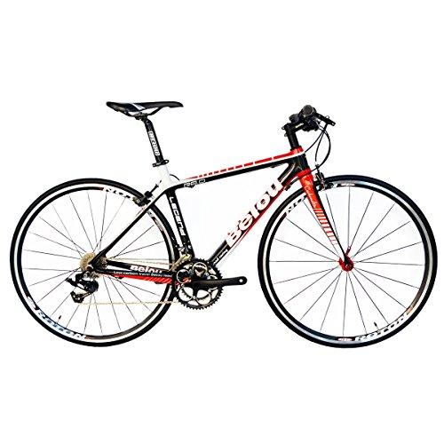 BEIOU ® 2016 Carbon-Comfortable Fahrräder 700C Rennrad LTWOO 2 * 10 Speed SRAM Bremskomplett 18,3 lb Hybrid Bike Toray T800 Fiber 520mm CB0012B152