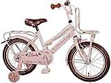 Volare Elegant Girl Bike Pink 40,6cm mit abnehmbarem Training Räder und 2Träger–95% assemblata