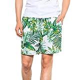 iYmitz Herren Badehose Laufen Surfen Sporthose Strand Shorts Board Pants Bademode Schwimmen Boardshorts Beachshorts(Grün,EU-50/CN-L)