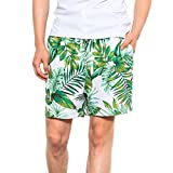 iHAZA Costumi da Bagno Uomo Running Surf Sport Spiaggia Pantaloncini Tronchi Bordo Pantaloni