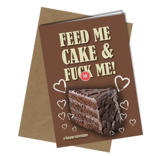 Biglietto di auguri per compleanno/san valentino, divertente, per fidanzata, moglie, umoristico, amore, cheeky (formato a4 piegato in formato a5)