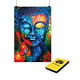 Best Wall Posters - 100yellow Paper Buddha Posters, 12x18 Inches (Multicolour) Review