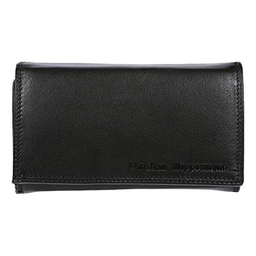 Christian Wippermann Damen Leder Geldbörse Portemonnaie 15,5x9,5x4,0 cm Tüv Geprüftem RFID Schutz Plus Geschenkbox - Zubehör Christian Handtaschen