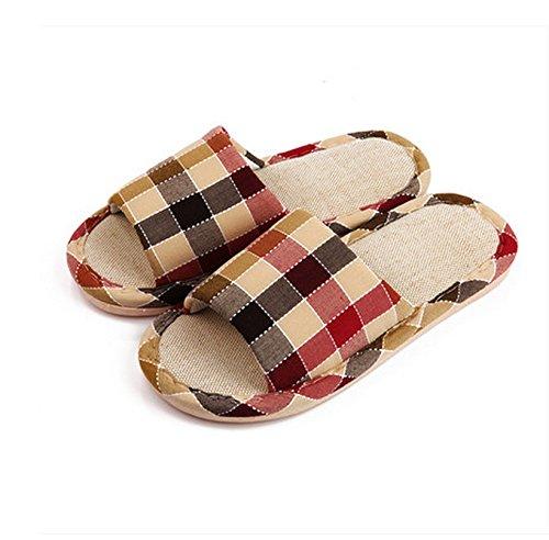 Winter Home Floor Indoor peau-friendly confortable Coton Pantoufles Femme Lattice Coton Pantoufles ( couleur : N ° 2 , taille : 36-38 ) # 1