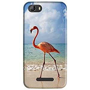 Bhishoom Designer Printed Back Case Cover for Micromax Canvas Nitro 2 E311 (Swan :: Duck :: Beach :: Scenery :: Scenic)