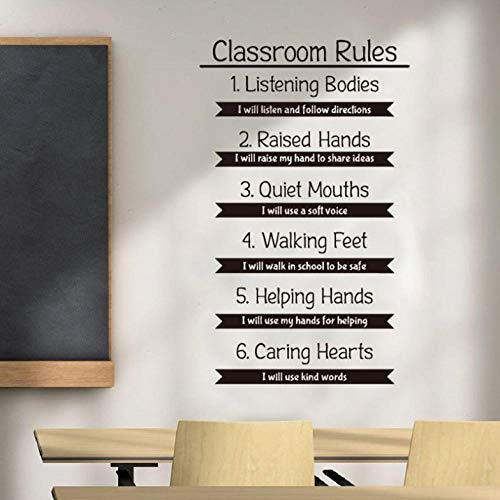 Klassenzimmer Regeln Wandtattoos DIY Bildung Forschung lernen inspirierende Zitate Vinyl Aufkleber DIY inspirierende Schule Interiors