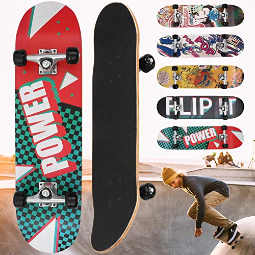 "Physionics Skateboard | 31"" (78,7cm), Kugellager: ABEC 5, Designwahl 