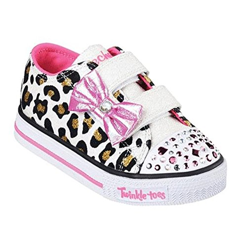 Twinkle Toes By Skechers Sparkle Sass Textile Turnschuhe White/Hot Pink/Black