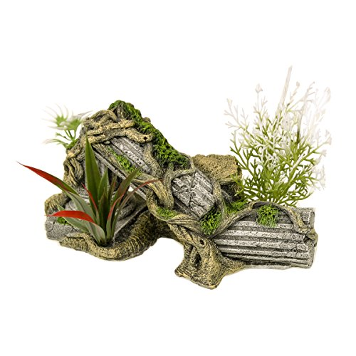 Blue Ribbon Pet Products ee-1017Exotic Umgebungen Antike Spalte Ruine mit Pflanzen (Pflanzen Blue Ribbon)