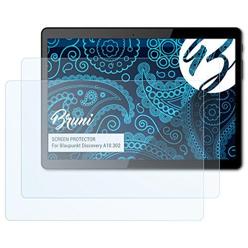 Preisvergleich Produktbild Bruni Schutzfolie kompatibel mit Blaupunkt Discovery A10.302 Folie,  glasklare Displayschutzfolie (2X)
