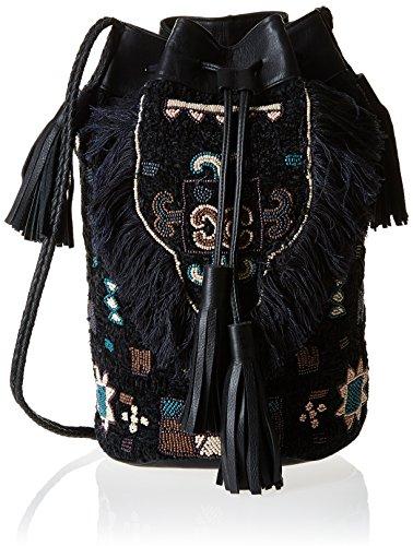 Antik Batik Cody 1B, Borsa a spalla donna, nero (nero), Taglia unica