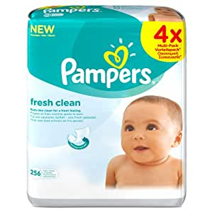 Pampers Fresh Clean Baby Wipes - 256 Wipes, Pack of 4