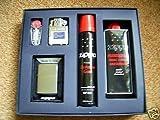 Zippo Feuerzeug Regular Chrome brushed + Gaseinsatz Geschenk-Set