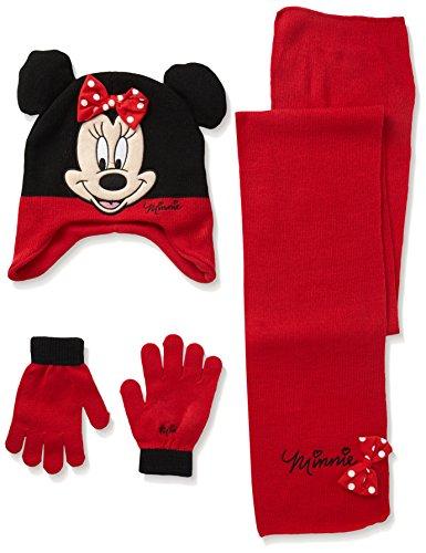 Disney Mädchen Mütze Minnie Mouse Polka Dot Bow Rot (Red), (Mütze Disney Minnie)