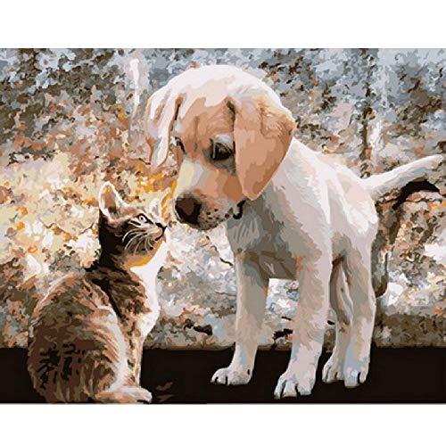 CCEEBDTO Puzzle Erwachsene Holz Puzzle 1000 Teile 3D Tierbild Für Hund Und Miezekatze Besonderes Geschenk Freizeit Spiel Spielzeug Home Decoration 75X50Cm -