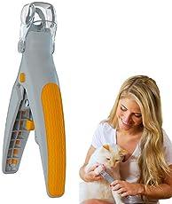 Aolvo Nagelknipser und Trimmer für Hunde, Pet Nagelschere mit 5X Vergrößerungsspiegel und Superhellem LED-Licht Zur Vermeidung von Überschneidung, Sicherheitspflege Nagelschere