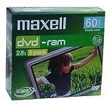 Maxell DVD-RAM 2.8GB Xtreme Protek Plus Rohlinge 5er P.