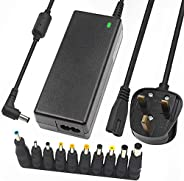 TLAXCA 90W Univeral Laptop Charger, 15V-20V Power Supply with 10 Connectors, Compatible with 65W 45W AC Adapte