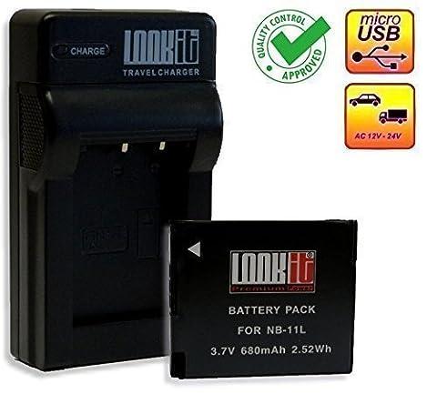 LOOKit® Chargeur + 1x LOOKit Premium NB-11L / NB- 11LH