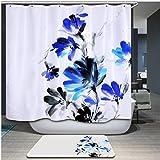 Baño cortina de ducha poliéster impermeable y moho cortinas sombra