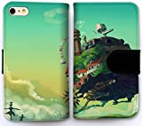 Custom Cover iPhone 5 5S SE Flip Wallet Case,howls moving castle Leather Cover Case for Cover iPhone 5 5S SE L4S4BCD