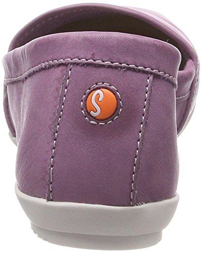 Softinos Damen Olu382sof Washed Geschlossene Ballerinas Violett (Lilac)