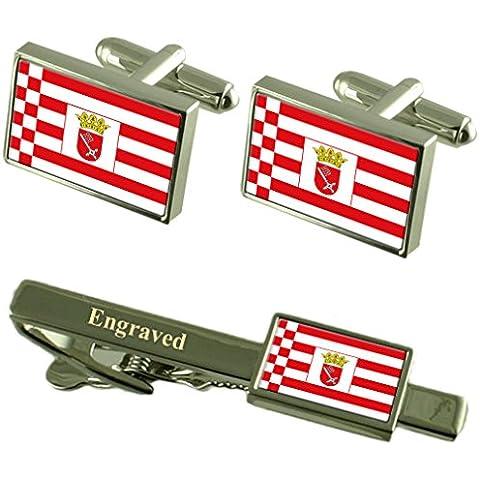 Libera Città Anseatica di Brema bandiera gemelli incisi Clip Matching Box Set - Libera Accessori Natale