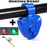 #8: Hunting Hobby Fish Bite Small Mini Lure Alaram,Wireless Fish Rod Bite Alaram Alert Sound Running LED