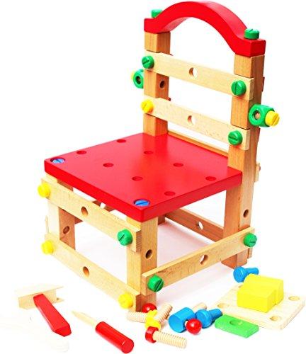 Toys of Wood Oxford Hölzerne nüsse und bolzen gebäude BAU baubankstuhl
