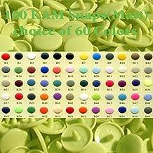 Plush Addict Kam Snap Lot de 100 boutons mats B44 Vert pomme Taille 20