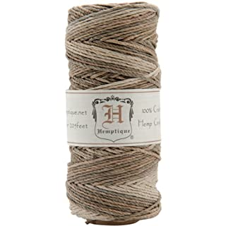 Hemptique Hemp Variegated Cord Spool 20lb 205'-Earthy, Other, Multicoloured, 6.06 x 6.06 x 12.03 cm