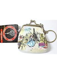 porte monnaie porte clé souvenir Paris France cadeau 7 x 8 cm clip