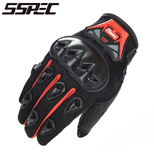 MYSdd Motorradhandschuhe Herren und Damen Moto Leder Carbon Radsport Winterhandschuhe Motorrad Motocross Handschuhe - A6 X XL