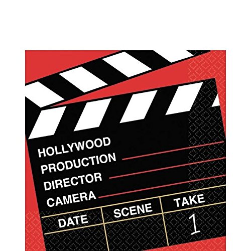 ilmnacht, Hollywood-Party, Regisseurschnitt, Klöppel, Mehrfarbig, 16,5 x 16,5 cm, 36 Stück ()