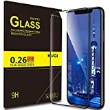 KuGi iPhone XS Max Protection Ecran iPhone XS Max Ultra Résistant Film Protection écran Glass [Dureté 9H] Screen Protector pour iPhone XS Max(Noir)