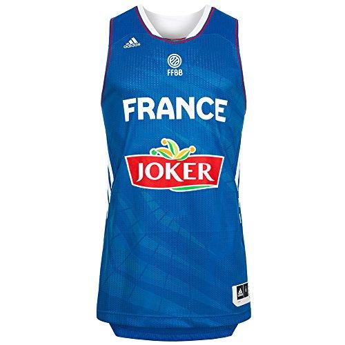 Frankreich adidas Basketball Trikot Nationalmannschaft Blau