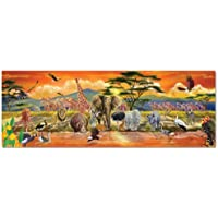 Melissa & Doug 12873 African Plains Safari Jumbo Jigsaw Floor Puzzle (100 pcs, over 1 meter long)