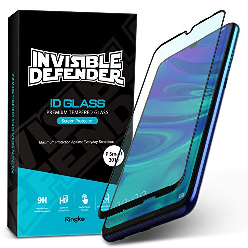Ringke Invisible Defender Full Coverage Glass Kompatibel mit Huawei P Smart 2019 Folie [3D Geschwungene Kanten] Klar HD Qualität Prämie Schutzfolie Kratzfest Technologie für Huawei P Smart 2019