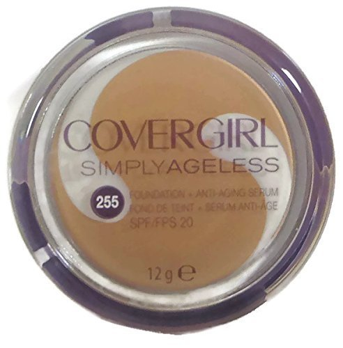 Cover Girl Soft Honey (Covergirl Simply Ageless Foundation + Anti-aging Serum, 255 Soft Honey, 12g by COVERGIRL)