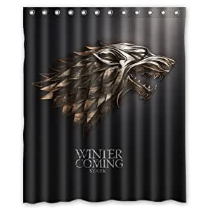 """Game of Thrones Custom Rideau de douche Waterproof Polyester Fabric Shower Curtain 60"""" x 72"""""""