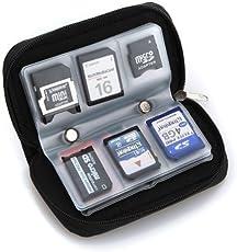 Oceanmap - Astuccio porta schede di memoria SD, 22 slot