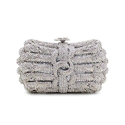 Dinner-Paket Europa und den Vereinigten Staaten Stil aristokratischen Tasche Handtasche Paket Diamantpaket 4 Farbe Silver