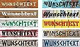 Schild Wunschtext Wunschname - 52x11cm - 10 Designs + 10 Schriften + Bohrlöcher Aufkleber Hartschaum Aluverbund -S00154A